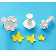 abordables -quatre c gâteau feuille de lierre en plastique fondant décoration plongeur coupe, outils de fondants classiques, des outils de gâteau
