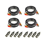 Недорогие -ANNKE® Кабели 4Pcs 100ft Audio Video Power Security Camera Extension Cables with Bonus BNC RCA Connectors для Безопасность системы 3000cm