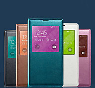 Original Screen Visible PU Leather Smart Auto-Sleep Chipset and Waterproof Pad for Samsung Galaxy S5