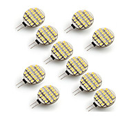 abordables -10pcs 3W 300-400 lm G4 LED à Double Broches 24 diodes électroluminescentes SMD 3528 Blanc Chaud Blanc Froid AC 12V