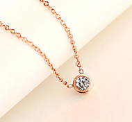 Women's Pendant Necklaces Stainless Steel Titanium Steel Gold Plated Simulated Diamond Fashion Silver Rose Golden Jewelry Daily Casual