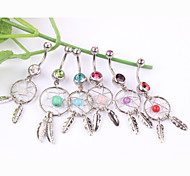 Women's Body Jewelry Navel Rings/Belly Piercing Crystal Unique Design Fashion Jewelry Random Color Jewelry Daily Casual 1pc