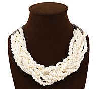 Vintage Bohemia Style Multilayer Pearl Necklace Fashion Joker Statement Necklace For Women Pearl Jewelry Tassel Necklaces