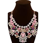 Жен. Заявление ожерелья Кристалл В форме цветка Синтетические драгоценные камни Хрусталь Сплав Цветной европейский Фестиваль / праздник
