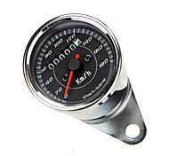 Blue LED Backlight Universal Odometer Speedometer Gauge km/h for Motorbike