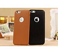 Кожа PU чистый цвет и гладкую с кругом для Iphone 6 плюс (разных цветов)