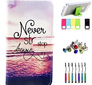 Red Tide Pattern PU Leather Case with A Touch Pen ,Stand and Card Holder for Sony Xperia Z3