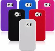 design de material de silicone caso capa para Samsung Galaxy S6 (cores sortidas)