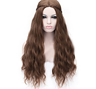 Недорогие -Жен. Искусственные волосы Длинные Коричневый