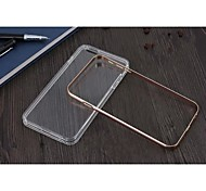 Special Design Metal Bumper Frame and Transparent TPU for iPhone 6