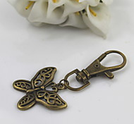 cheap -Fashion Unisex Retro Alloy Hollow Out Butterfly Pendant Keychains