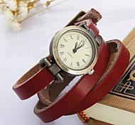 Недорогие -Жен. Кварцевый Наручные часы Часы-браслет Повседневные часы Кожа Группа Винтаж Богемные Белый Синий Красный Оранжевый Коричневый Зеленый