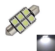 cheap -1.5W Festoon Decoration Light 6 SMD 5050 100-150lm Cold White 6000-6500K DC 12V