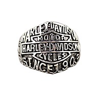 """Retro Ren's Titanium Steel Ring with""""HARLEY-DAVIDSON SINCE 1903""""(1PCS) Jewelry Christmas Gifts"""