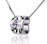 Женский Ожерелья с подвесками В форме сердца Стерлинговое серебро Любовь Мода бижутерия Бижутерия Назначение Свадьба Для вечеринок