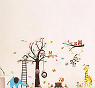 Недорогие -Животные Мультипликация Наклейки Простые наклейки Декоративные наклейки на стены,Винил материал Съемная Украшение дома Наклейка на стену