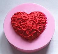 Недорогие -Формы для выпечки силиконовые сердце для выпечки формы для шоколадный торт желе (случайные цвета)
