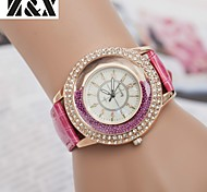 Недорогие -женская fashine алмазов зыбучие пески жемчужина кварца кожа наручные часы (разных цветов)