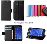 Недорогие -новый бизнес твердый кожаный чехол с подставкой для Samsung Galaxy сердечника премьер G360F