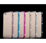 Special Design Metal Diamond Bumper Frame and Transparent TPU for iPhone 6