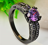 High Quality Fashion Women Round Drill Zircon Four Claw Ring