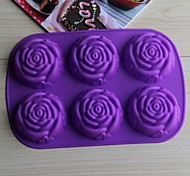 Bakeware Silicone Rose Baking Molds for Chocolate Cake Jelly (Random Colors)