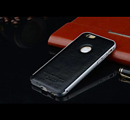 iPhone 6 Luxury Metal Frame Protection with Leather Back Cover (Assorted Colors)