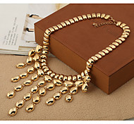 cheap -Women's Tassel Fashion Statement Necklace Cubic Zirconia Statement Necklace , Party