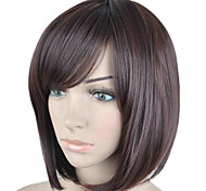 cheap -Fashion Brown Color Short Straight  Hair Wig Side Bang  Synthetic Wigs  New Arrival