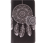 White Dreamcatcher Pattern PU Leather Full Body Case with Stand and Card Slot for Nokia Lumia N630