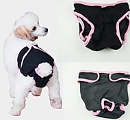 Недорогие -Собака Брюки Одежда для собак Однотонный Черный Лиловый Синий Розовый Хлопок Костюм Для домашних животных