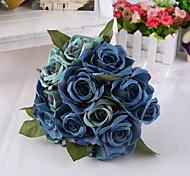 Недорогие -магия голубой розы цветы свадебный букет для украшения дома