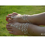 cheap -Crystal / Imitation Diamond Anklet / Barefoot Sandals - Women's Silver Unique Design / Fashion / Bikini Jewelry Anklet For Wedding /