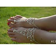 cheap -Women's Anklet / Bracelet Crystal Imitation Diamond Unique Design Fashion Bikini Anklet Barefoot Sandals Jewelry Jewelry For Wedding
