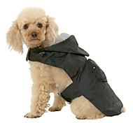 Недорогие -Собака Дождевик Одежда для собак Однотонный Черный Красный Синий Нейлон Костюм Для домашних животных Муж. Жен. Водонепроницаемый