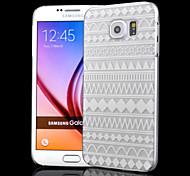 прозрачные ремесла выемку полоса печати шт скраб материал телефон случае для Samsung Galaxy S6