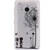 cheap -Case For Nokia Nokia Lumia 530 Nokia Case IMD Back Cover Dandelion Soft TPU for