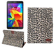 For Samsung Galaxy Case Card Holder / Wallet / with Stand / Flip Case Full Body Case Leopard Print PU Leather Samsung Tab A 9.7