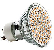 3W GU10 LED Spotlight MR16 60 SMD 3528 240lm Warm White 2700K AC 220-240V 1pc