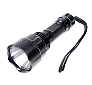 LED Flashlights / Torch Handheld Flashlights/Torch LED 1000 lm 5 Mode Cree XP-E R2 for Camping/Hiking/Caving Black