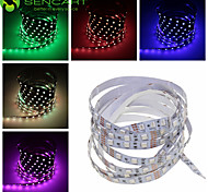 abordables -SENCART Tiras LED Flexibles 60 LED Blanco Cálido RGB Blanco Rosa Verde Amarillo Azul Rojo Control remoto Cortable Regulable