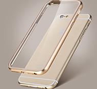 рок металл бампер акриловая прозрачная крышка кристалл обратно дело для iphone 6 плюс