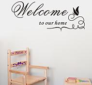 Добро пожаловать в наш дом цитатой настенных наклеек zooyoo8181 декоративные ADESIVO де Parede съемный виниловые наклейки для стен
