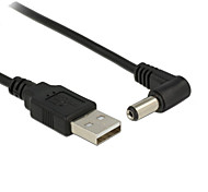 USB 2.0 A Type Male to Right Angled 90 Degree 5.5 x 2.1mm DC 5V Power Plug Barrel Connector Charge Cable 80cm