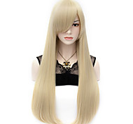 Недорогие -Парики из искусственных волос Прямой С Bangs плотность Без шапочки-основы Жен. Карнавальный парик Парик для Хэллоуина Очень длинный