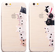 Cute Cat Pattern TPU Soft Case for iPhone 6S Plus/6 Plus