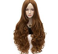 80см U ВЕЧЕРИНКА фигурные косплей парик партии нескольких цветов доступный мед коричневый