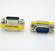 Недорогие -последовательный порт RS232 DB9 мужчина к мужской адаптер адаптер переходник пол смены