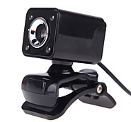 cheap -4LED USB 2.0 12 M HD Camera Web Cam with MIC Clip-on Night Vision 360 Degree for Desktop Skype Computer PC Laptop