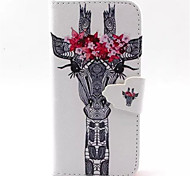 For iPhone 8 iPhone 8 Plus iPhone 5 Case Case Cover Wallet with Stand Flip Full Body Case Animal Hard PU Leather for iPhone 8 Plus iPhone